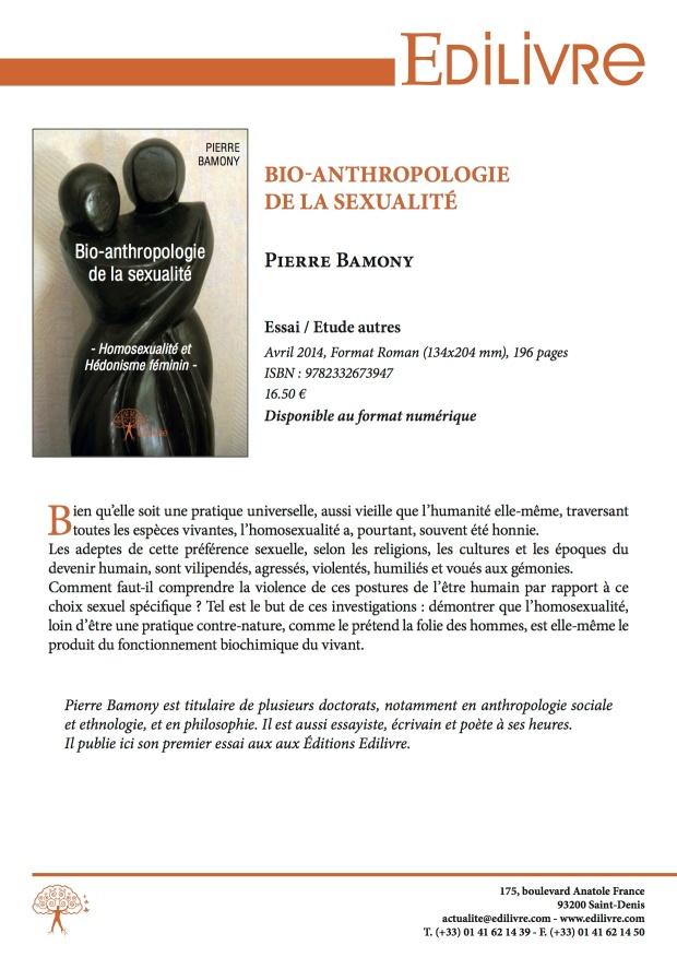 Bio-Anthropologie de la sexualité - Fiche de présentation