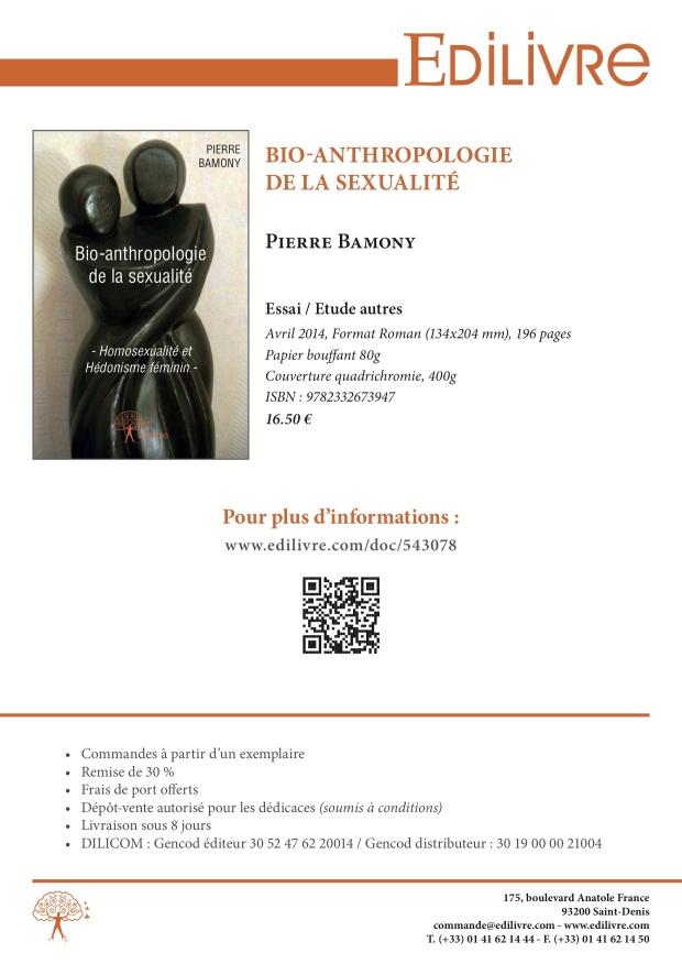 Bio-Anthropologie de la sexualité - Fiche de présentation2