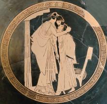 Eraste et son éromène, Vème siècle avant J-C, musée du  Louvre