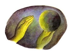 20 Tenaille Butel, Au commencement Dieu crea L'ancien testament-Texte de Marie Tenaille, Illustré par Lucile Butel  Editions Gautier Languereau 1989-