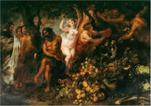 Pythagoras prônant le vegetarianisme-Rubens