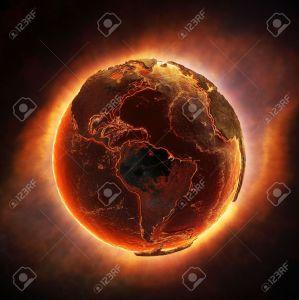 19847966-Combustion-Terre-apr-s-une-catastrophe-mondiale-Banque-d'images