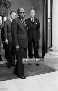 President of Cote d'Ivoire Felix Houphouet-Boigny visits Paris. (Photo by © Richard Melloul/Sygma/CORBIS/Sygma via Getty Images)